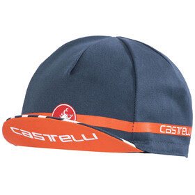 Castelli Free Cycling Hovedbeklædning orange/petroleumsgrøn